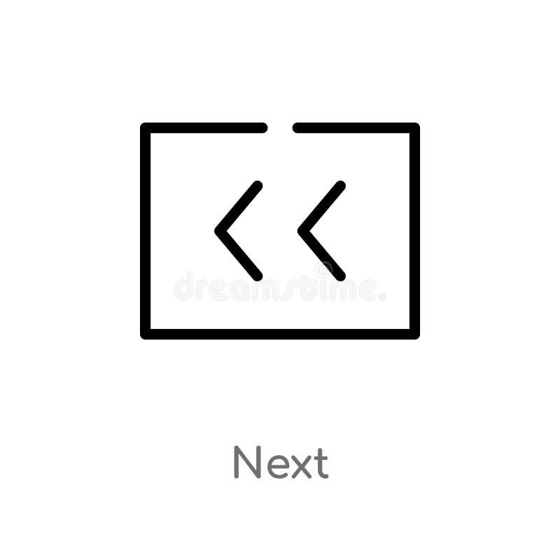 概述下个传染媒介象 E 编辑可能的传染媒介冲程下个象 向量例证