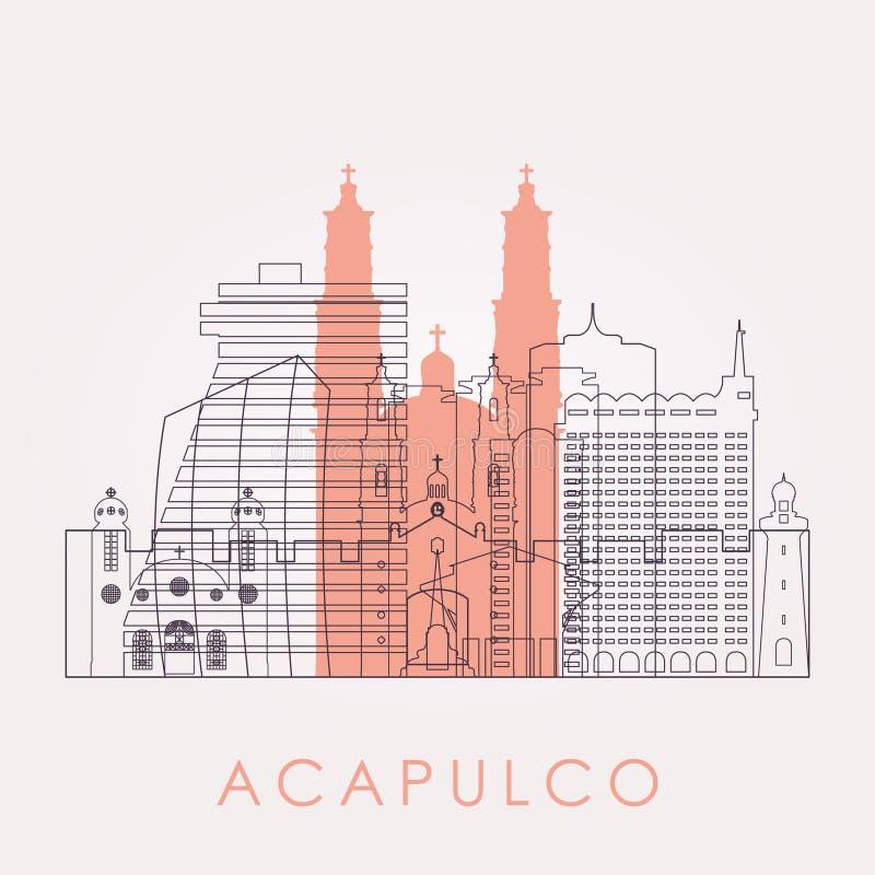 概述与地标的阿卡普尔科地平线