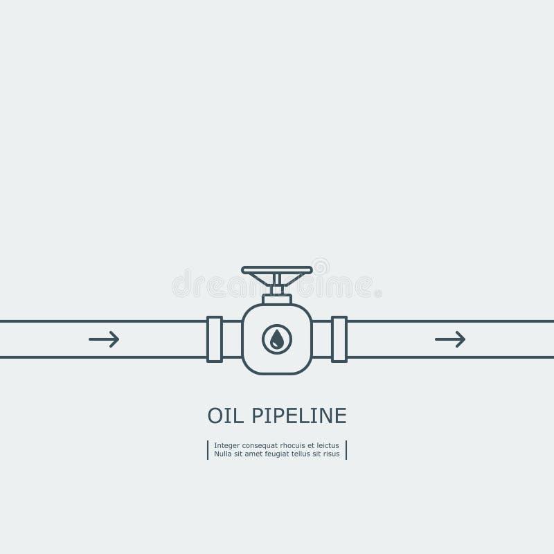 概述与止流栓概念的输油管 库存例证
