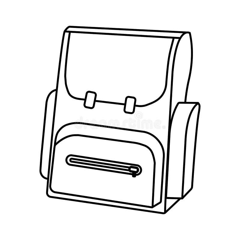 概述书包象 学校用品 被隔绝的传染媒介 皇族释放例证