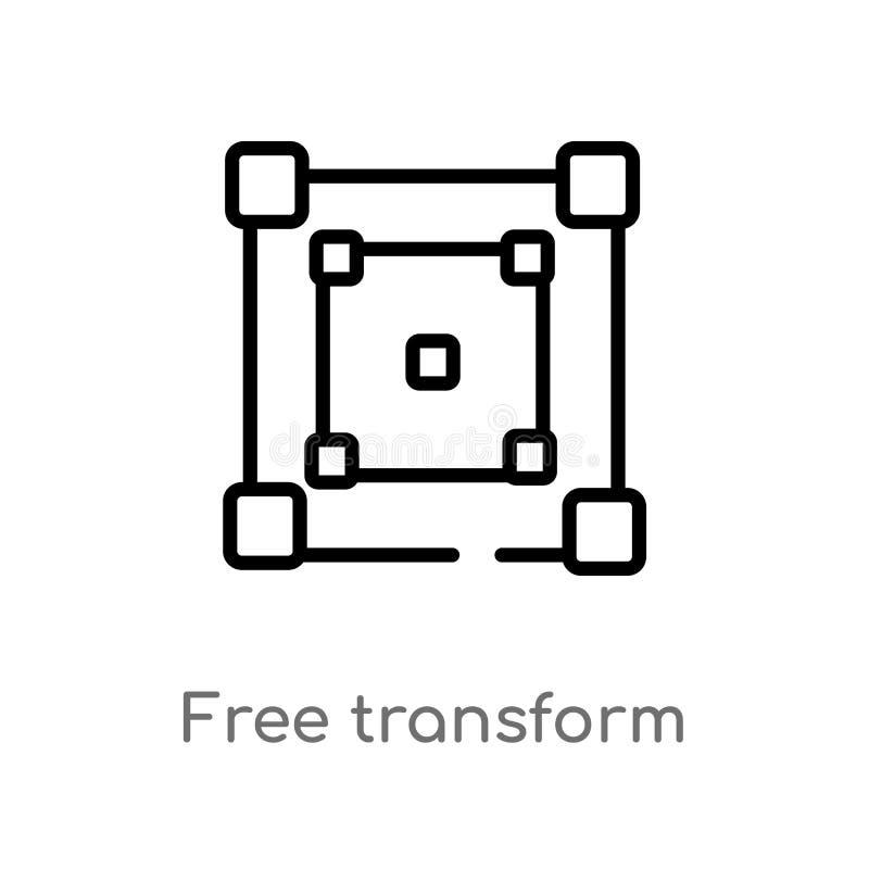 概述任意变换传染媒介象 被隔绝的黑简单的线元例证从编辑工具概念 编辑可能的传染媒介 向量例证