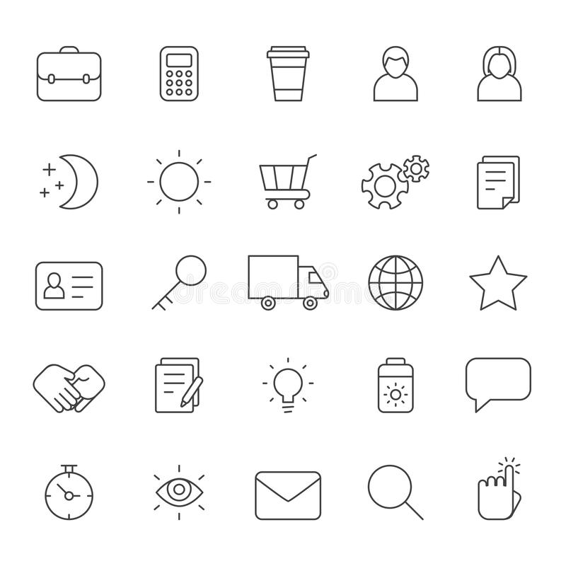概述企业灰色象传染媒介集合 现代minimalistic样式 第二部分 库存例证
