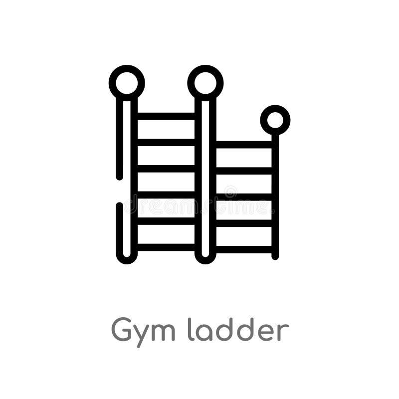 概述健身房梯子传染媒介象 r 编辑可能的传染媒介 向量例证