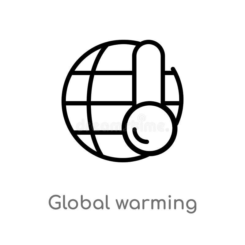 概述全球性变暖传染媒介象 E r 皇族释放例证