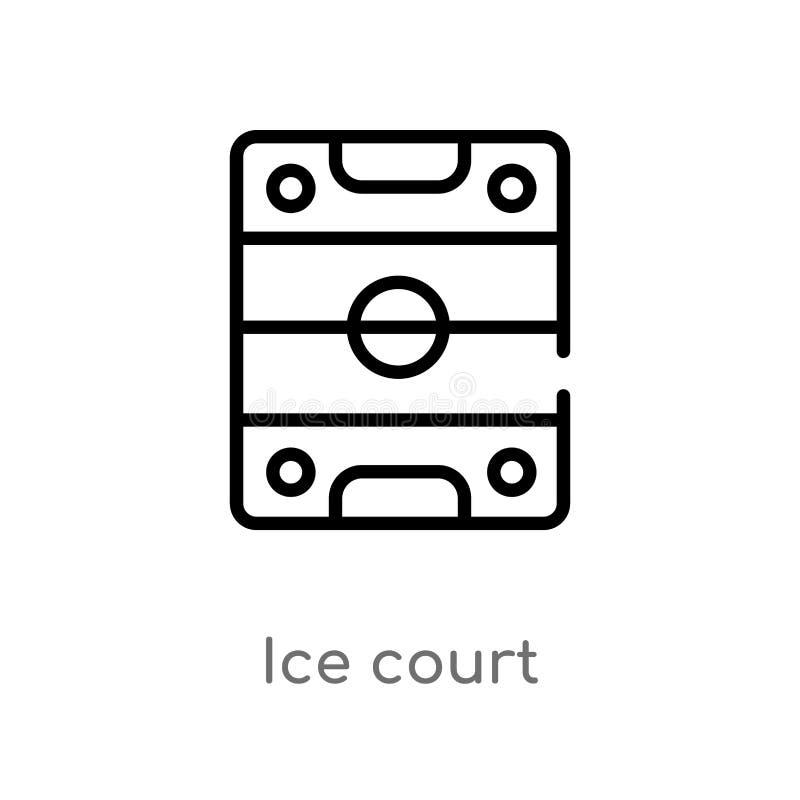 概述冰法院传染媒介象 E 编辑可能的传染媒介冲程冰 皇族释放例证