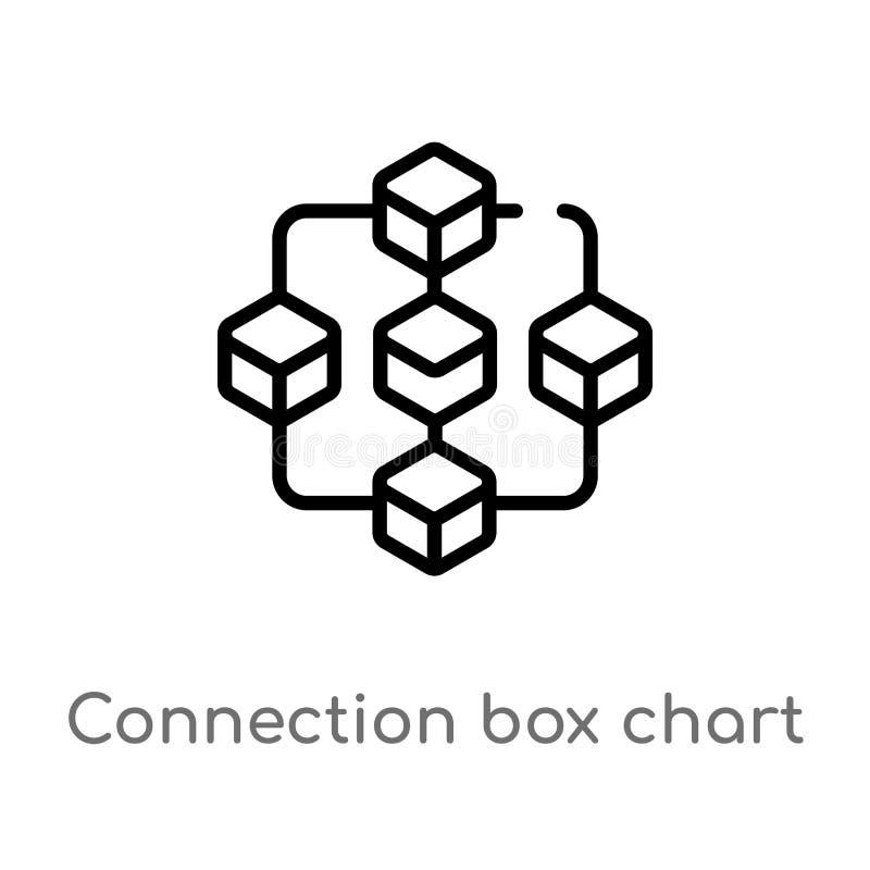 概述分线箱图传染媒介象 被隔绝的黑简单的从企业概念的线元例证 编辑可能的传染媒介 库存例证