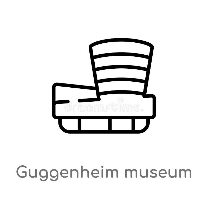 概述古根海姆美术馆传染媒介象 r 编辑可能的传染媒介 向量例证