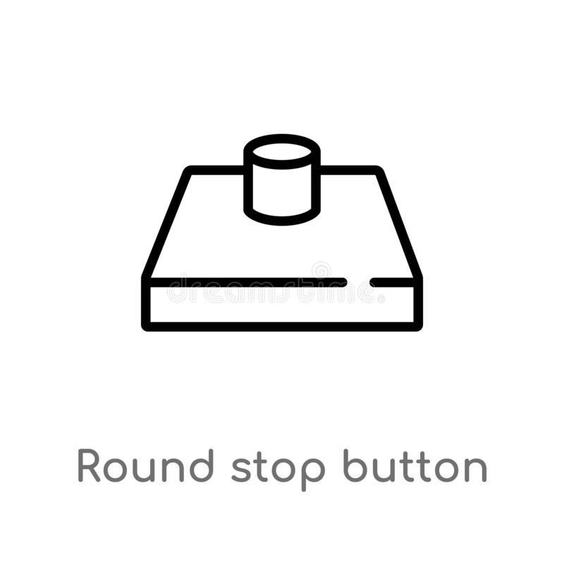 概述圆的停止键传染媒介象 r r 向量例证