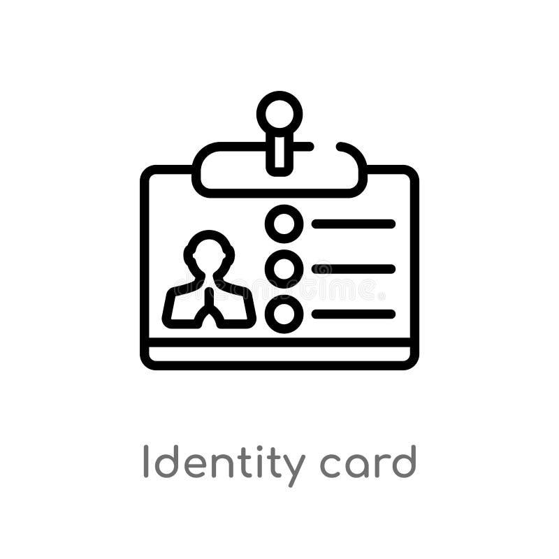 概述学生证传染媒介象 被隔绝的黑简单的从企业概念的线元例证 编辑可能的传染媒介冲程 库存例证