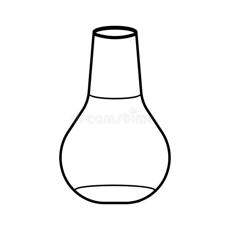 概述实验室烧瓶象 学校用品 查出 向量例证