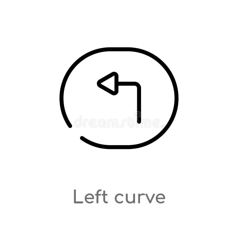 概述左曲线传染媒介象 E E 皇族释放例证