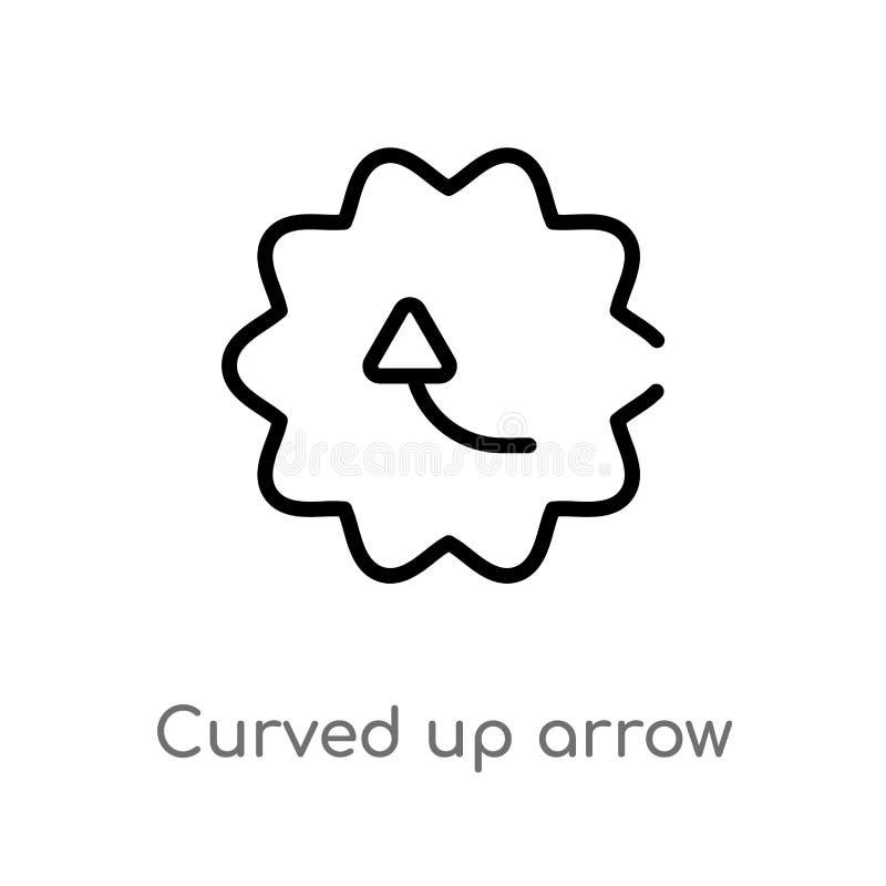 概述弯曲箭头传染媒介象 E E 皇族释放例证