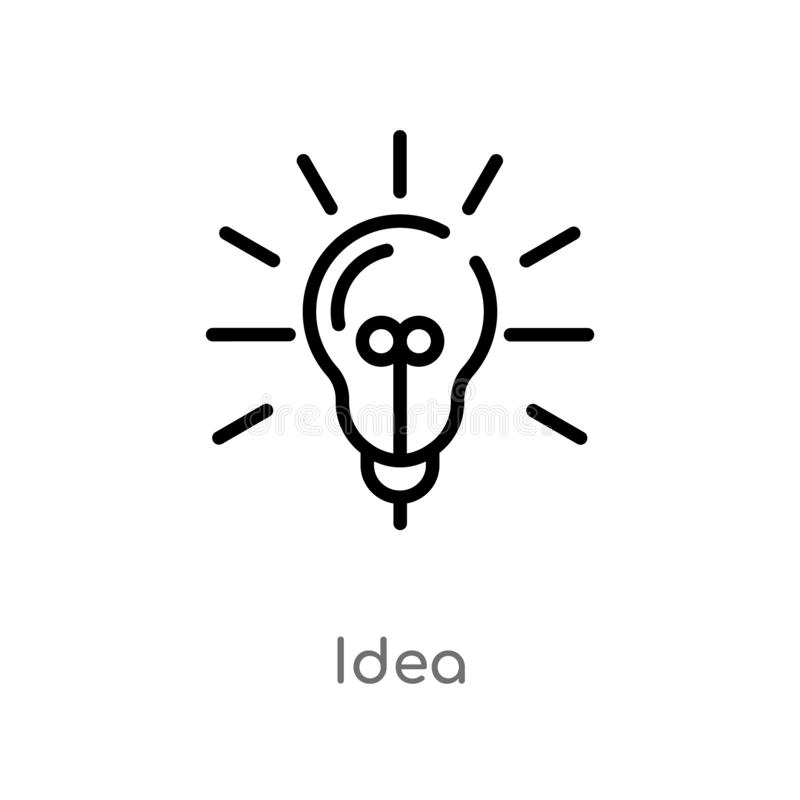 概述想法传染媒介象 被隔绝的黑简单的从数字经济概念的线元例证 编辑可能的传染媒介冲程 库存例证