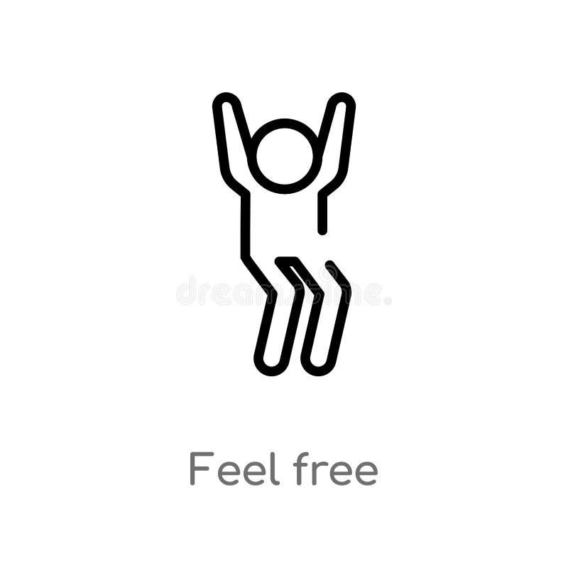 概述感觉自由传染媒介象 被隔绝的黑简单的从人概念的线元例证 编辑可能的传染媒介冲程感受 皇族释放例证
