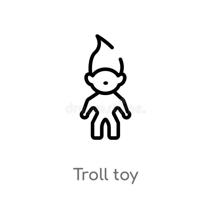 概述拖钓玩具传染媒介象 被隔绝的黑简单的从玩具概念的线元例证 编辑可能的传染媒介冲程拖钓玩具 向量例证