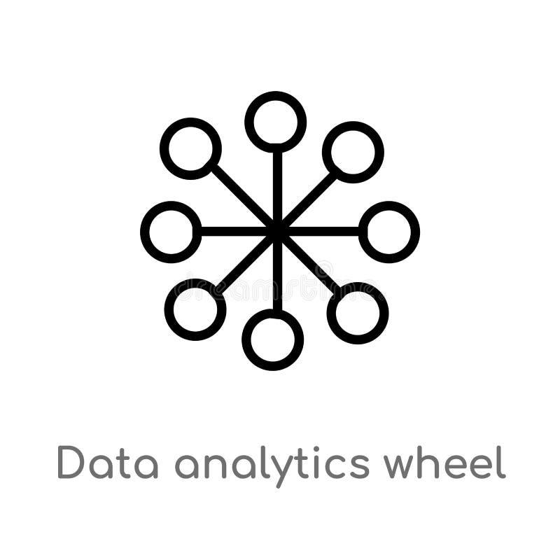 概述数据逻辑分析方法轮子传染媒介象 E r 库存例证