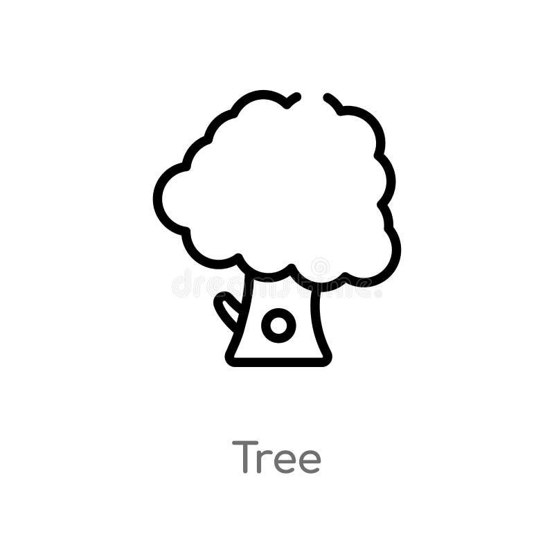 概述树传染媒介象 E 编辑可能的传染媒介冲程树象 向量例证