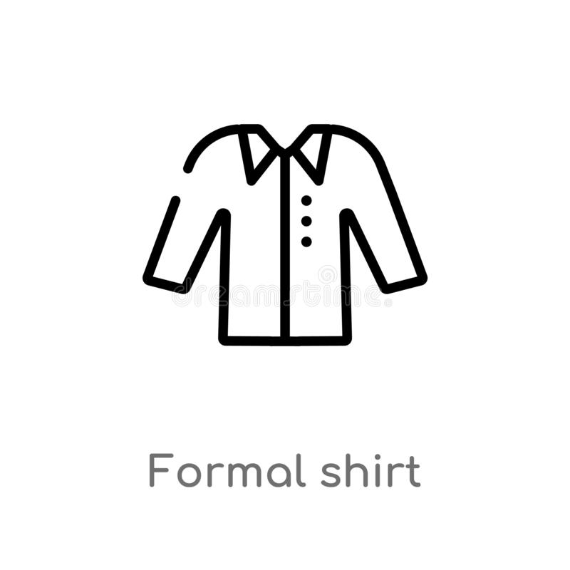 概述正式衬衣传染媒介象 E r 皇族释放例证