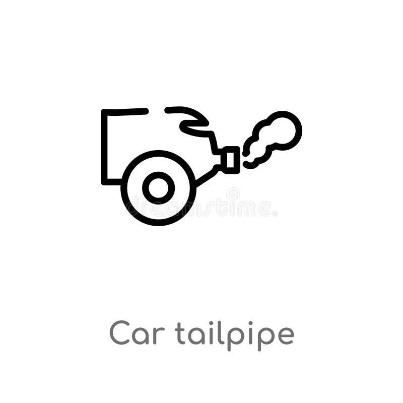 概述汽车排气管传染媒介象 E r 库存例证