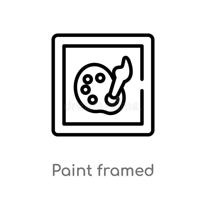 概述油漆被构筑的传染媒介象 被隔绝的黑简单的从艺术和设计观念的线元例证 E 向量例证