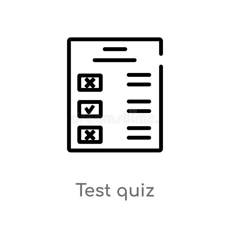概述测试测验传染媒介象 被隔绝的黑简单的从用户界面概念的线元例证 编辑可能的传染媒介冲程 库存例证