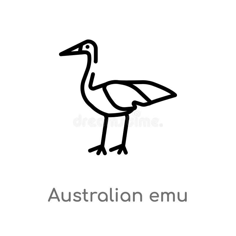 概述澳大利亚鸸传染媒介象 E r 库存例证