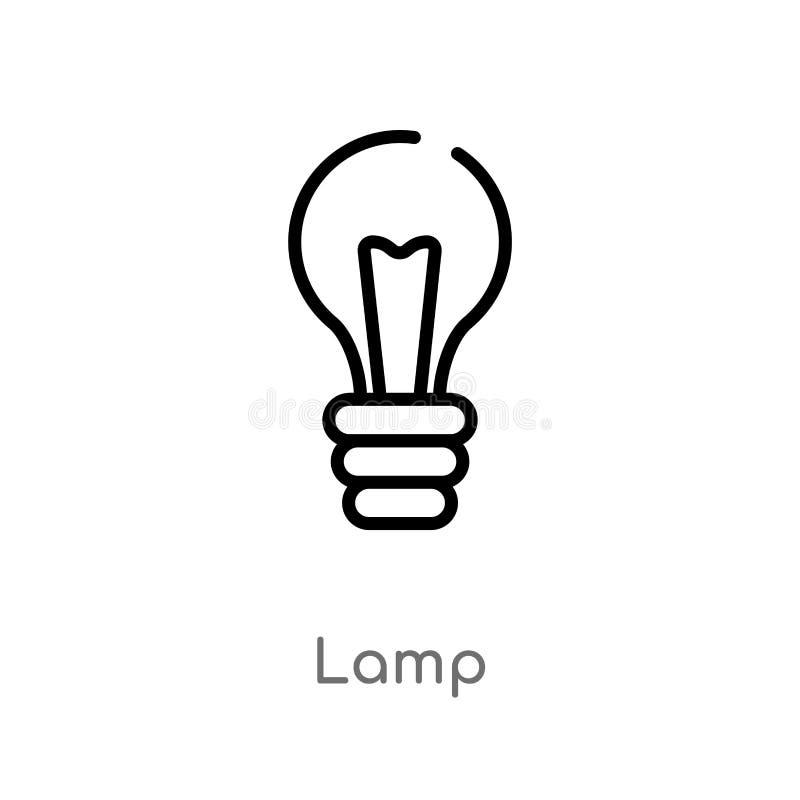 概述灯传染媒介象 E 编辑可能的传染媒介冲程灯象 库存例证