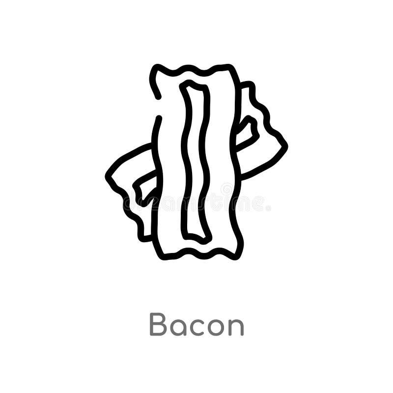 概述烟肉传染媒介象 被隔绝的黑简单的从美食术概念的线元例证 编辑可能的传染媒介冲程烟肉 向量例证