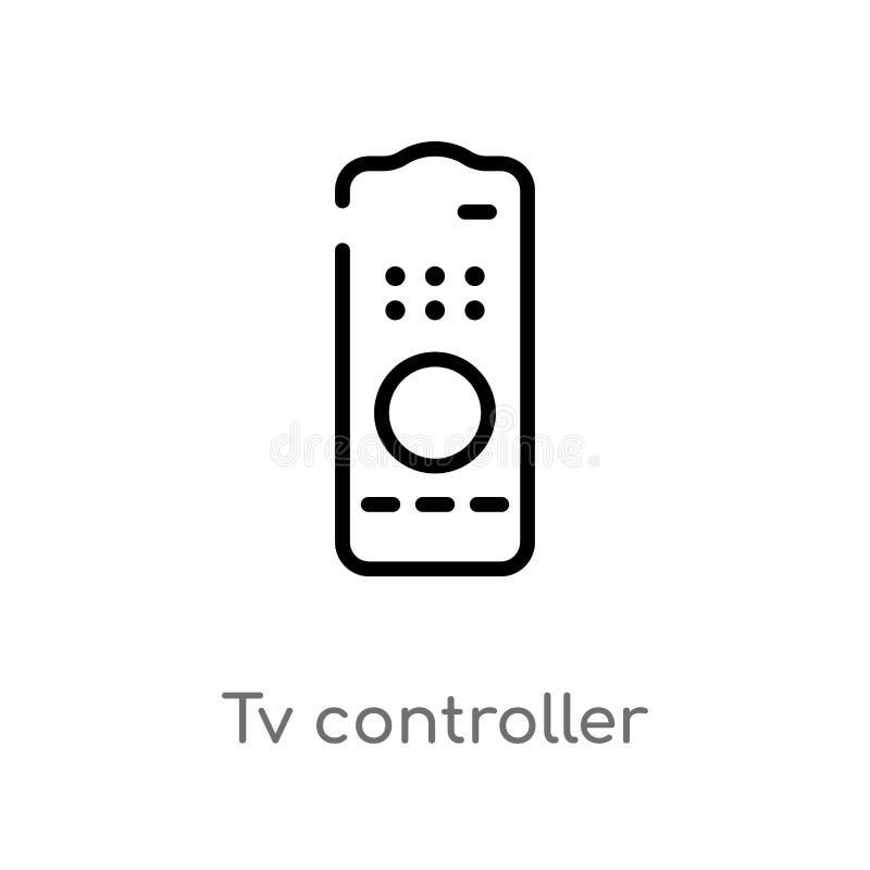 概述电视控制器传染媒介象 r 编辑可能的传染媒介冲程 皇族释放例证
