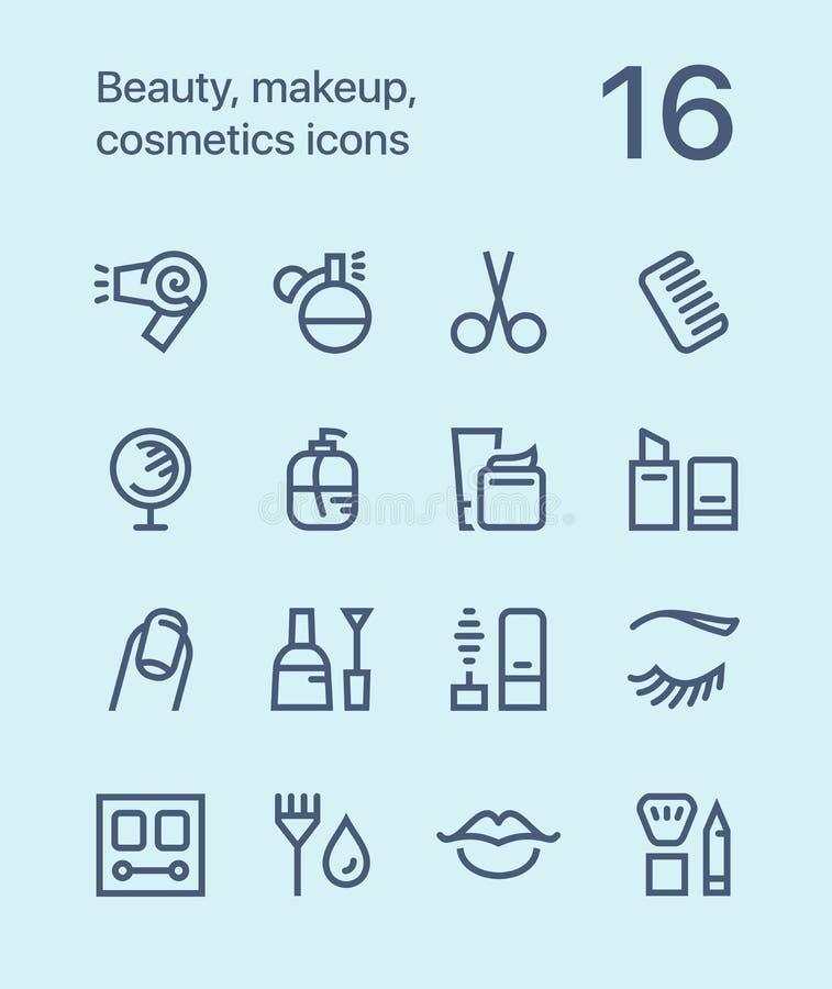 概述秀丽、化妆用品、构成象网的和流动设计组装1 向量例证