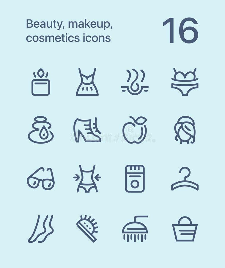 概述秀丽、化妆用品、构成象网的和流动设计组装2 向量例证