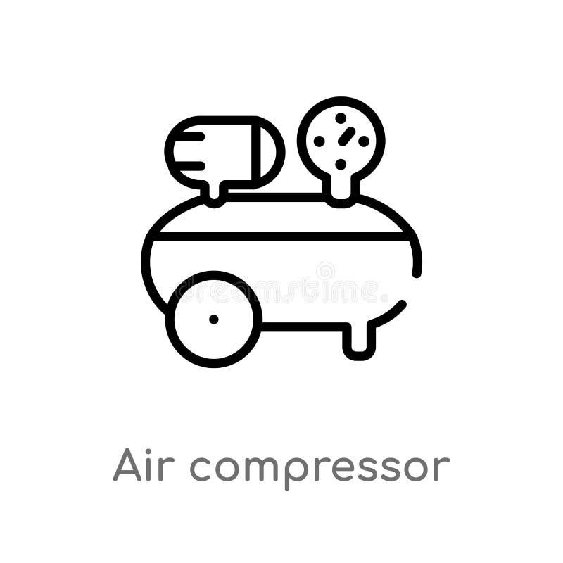 概述空气压缩机传染媒介象 E E 库存例证