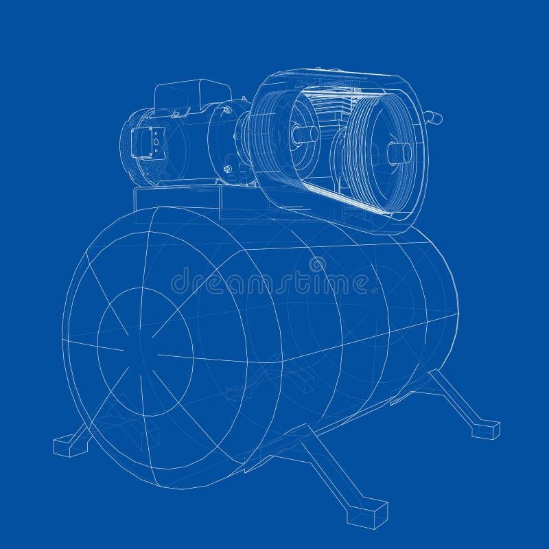 概述空气压缩机 ?? 皇族释放例证