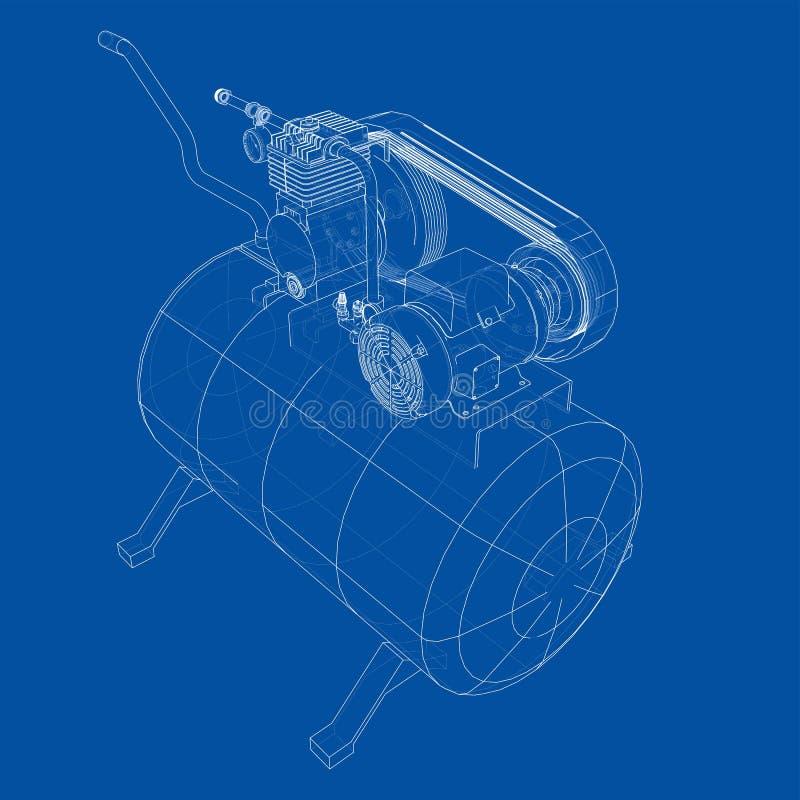 概述空气压缩机 ?? 库存例证