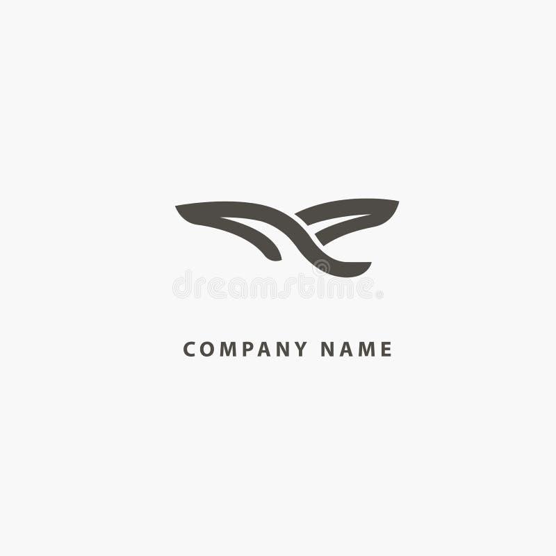 概述简单派翼商标 抽象鸟象 动物象征 化妆用品,温泉,美容院,装饰,精品店传染媒介商标 库存例证