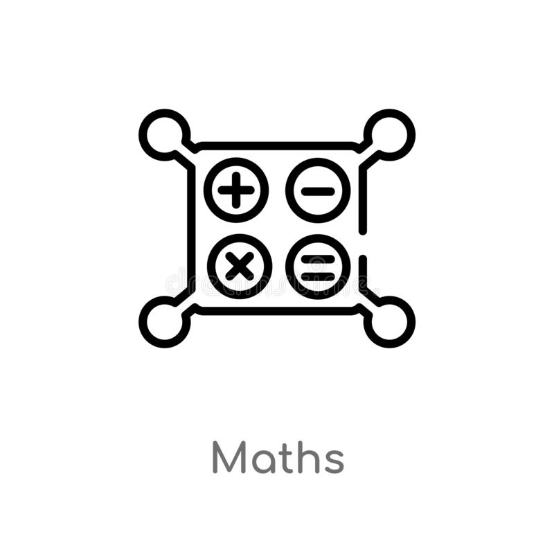 概述算术导航象 E 编辑可能的传染媒介冲程算术 皇族释放例证