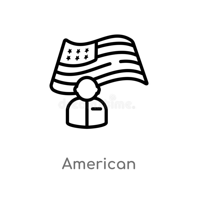 概述美国传染媒介象 被隔绝的黑简单的从万圣节概念的线元例证 r 皇族释放例证