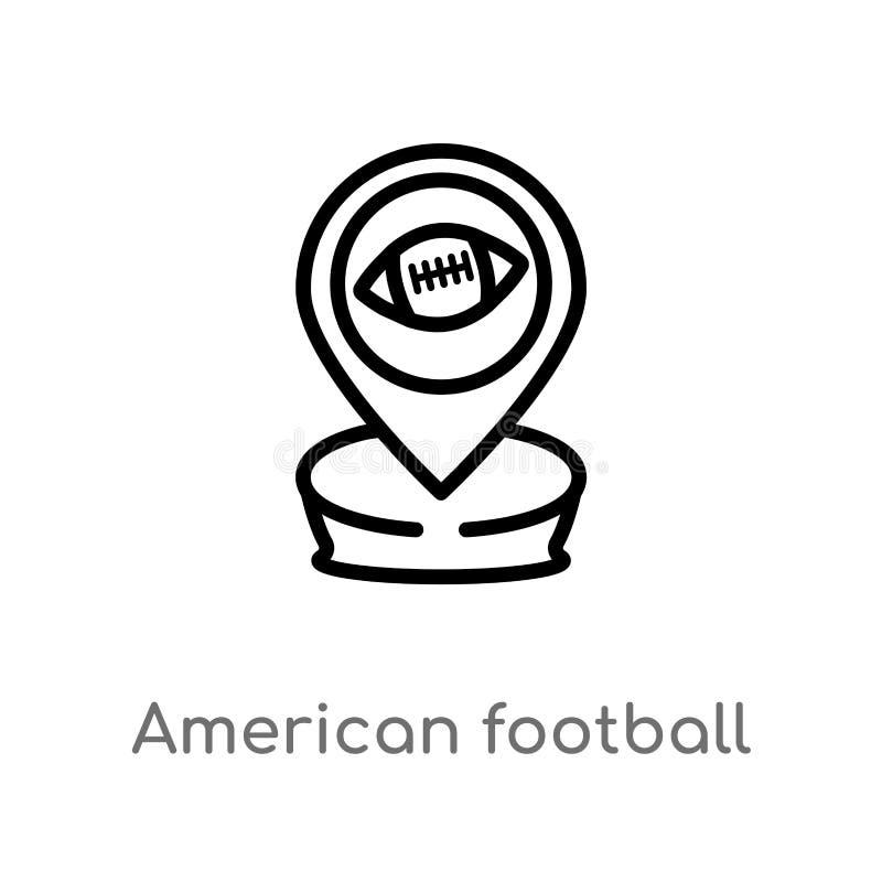 概述美式足球占位符传染媒介象 E 向量例证