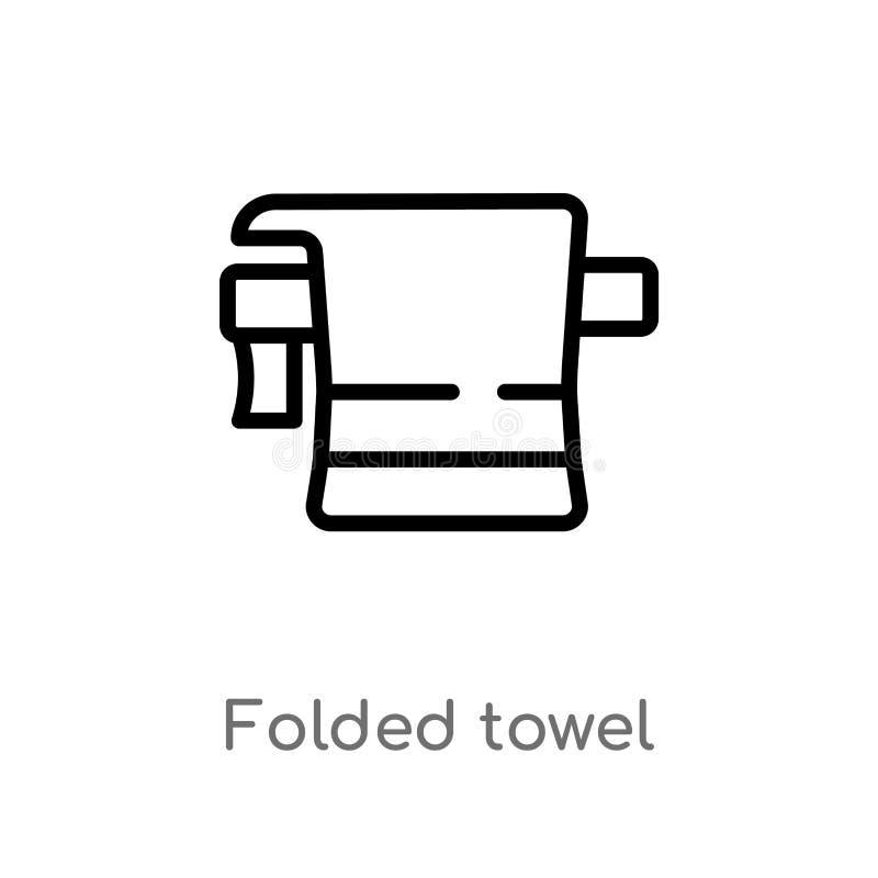 概述被折叠的毛巾传染媒介象 E r 库存例证