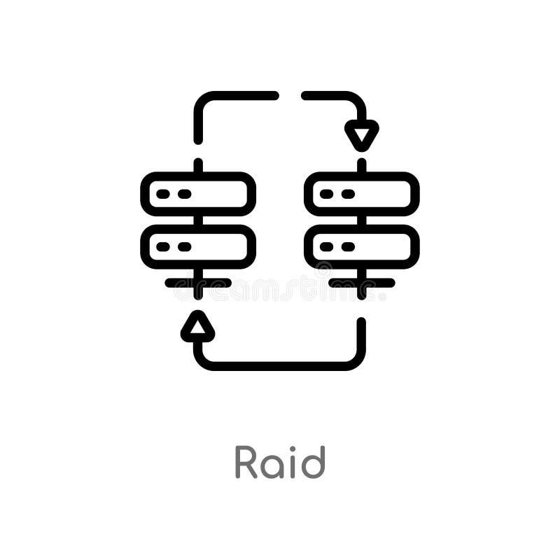 概述袭击传染媒介象 被隔绝的黑简单的从网络主持概念的线元例证 编辑可能的传染媒介冲程袭击 库存例证