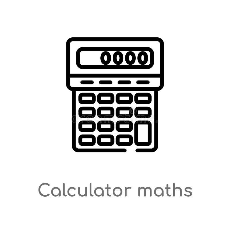 概述计算器算术工具传染媒介象 E E 向量例证