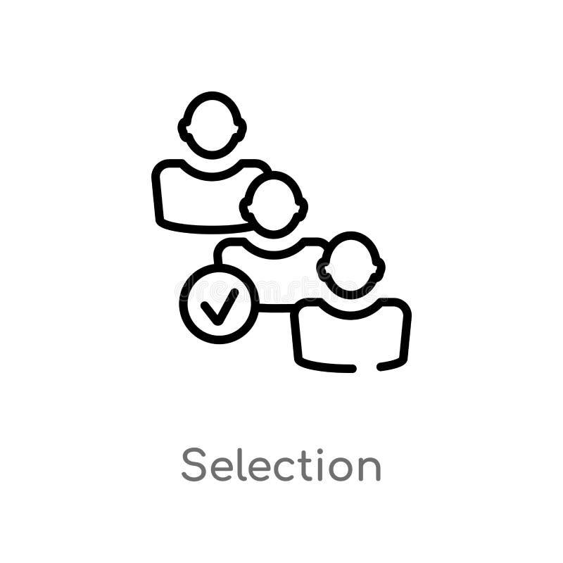概述选择传染媒介象 被隔绝的黑简单的从人力资源概念的线元例证 编辑可能的传染媒介 向量例证