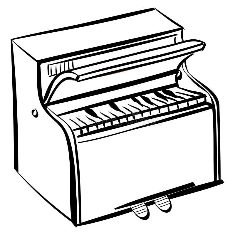 概述钢琴 库存例证