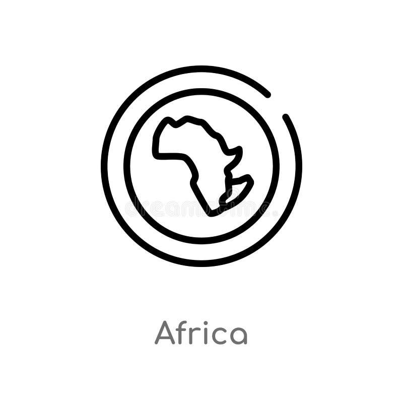 概述非洲传染媒介象 _隔绝黑简单line线元例证从概念 编辑可能的传染媒介冲程非洲象 向量例证