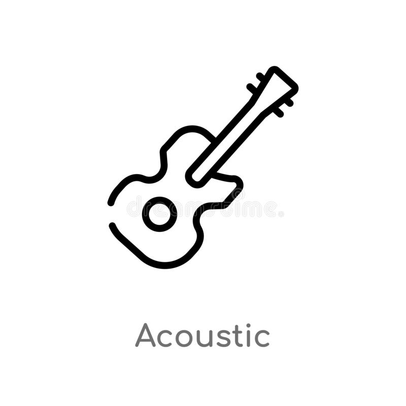 概述音响传染媒介象 被隔绝的黑简单的从音乐概念的线元例证 音响编辑可能的传染媒介的冲程 库存例证