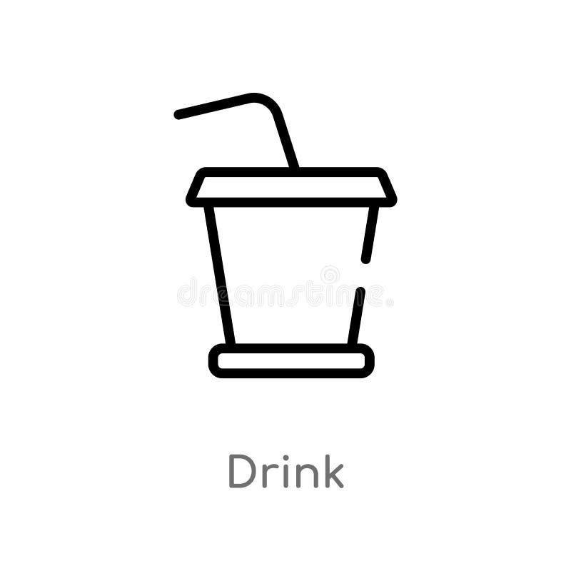 概述饮料传染媒介象 r 编辑可能的传染媒介冲程饮料象 向量例证
