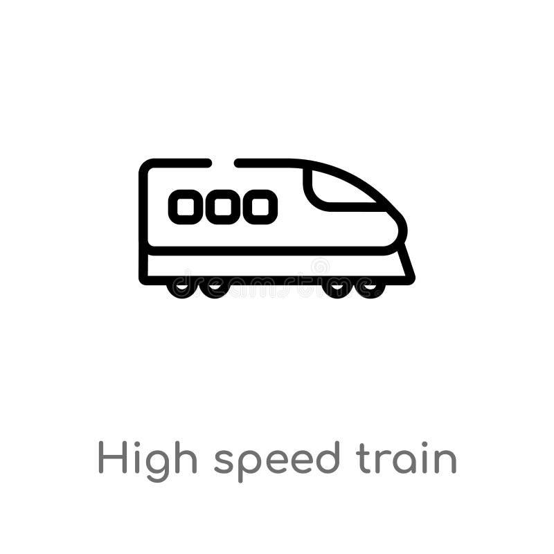 概述高速火车传染媒介象 E r 皇族释放例证
