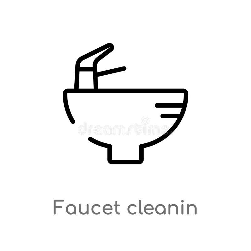 概述龙头cleanin导航象 E r 库存例证