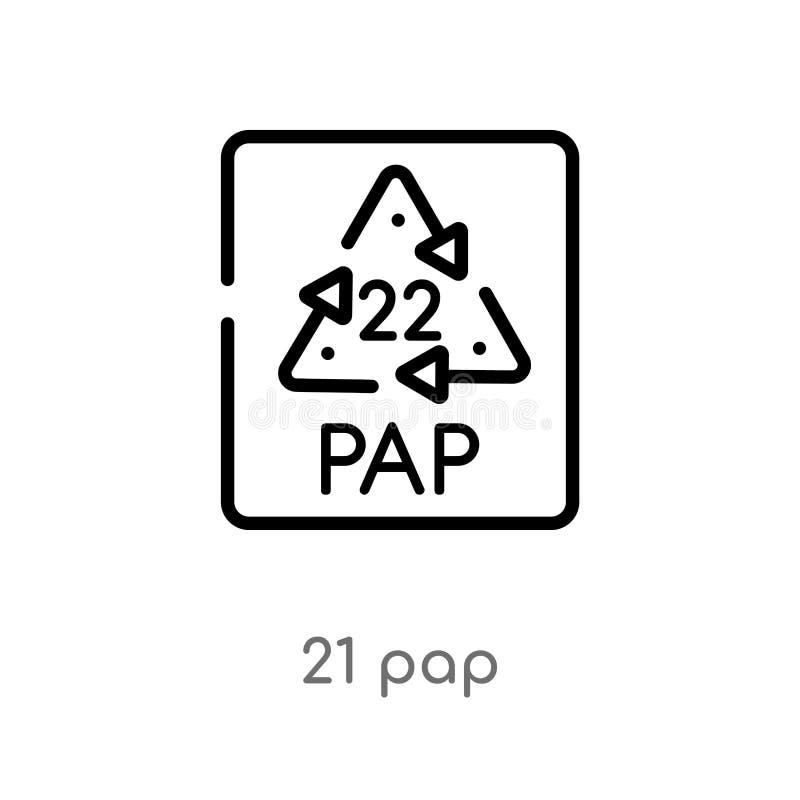 概述21 pap传染媒介象 被隔绝的黑简单的从用户界面概念的线元例证 编辑可能的传染媒介冲程21 向量例证