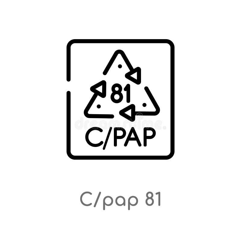 概述c/pap 81传染媒介象 E r 库存例证